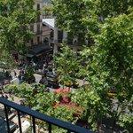 Il Mercato della Boqueria visto dal balcone della camera