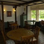 Country side setting, large car park and spacious bar and restaurant