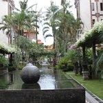 Garden near restaurant