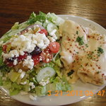 Chicken & Mushroom Crepes with a Greek Salad