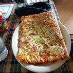 Pizza de Jamon..al estilo tradicional de Italia