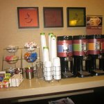 Coffee and tea station--available free 24/7