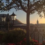 Sunset in Rome, from the del Senato's rooftop wine bar