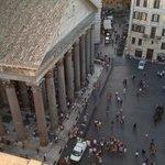 View from the Albergo del Senato's rooftop bar