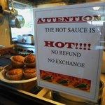 Hot Sauce Warning