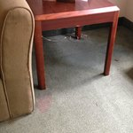 Stained couch and carpet