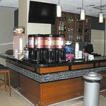 Coffee station (bar at night)