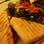 Grilled chicken on ciabatta