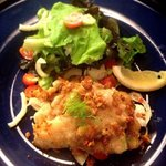 Fish of the day with Ginger sauce salad