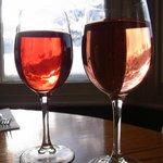 enjoying wines