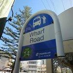 ホテル近くのバス停