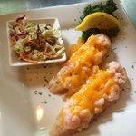 Shrimp melt & coleslaw