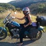 Con la nostra moto durante uno spostamento