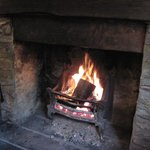 Log Fire in the bar