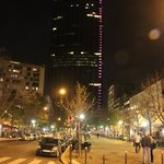 View of Montparnasse tower outside Edgar Quinet. 30 secs from hotel