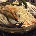 my raw seafood at my table, now the experience begins