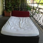 day bed on the room terrace