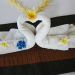 towels beautifully decorated