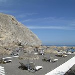 Perissa beach...great! (took bus from Fira)