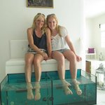 Fish spa pedicure in Fira...fun!