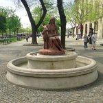 """Fountain """"Girl with a doe"""""""