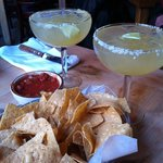 Margaritas with tortilla corn chips - a must to start your meal
