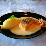 Duo of Salmon and Lough Perch, Vegetable Fricassee, Vanilla Beurre Blanc