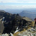On the ridge of Liathach feeling proud of myself!