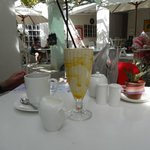 A delicious non dairy smoothie at Polka