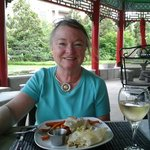 Outdoor dining at the Pagoda Restaurant