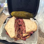 Triple decker Schlepp - brisket, corned beef and pastrami!