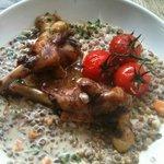 Plat du jour : Risotto de lentilles et cuisses de canard confites