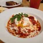 wonderful Chilaquiles and perfectly poached eggs