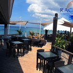 next to the bar at Rackams waterfront grand Cayman