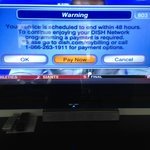 TV error message