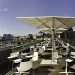 Stunning views over the City of London from the Skylounge south terrace. Open to residents and n