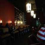 from bar to the back- booth area led to another sitting area
