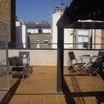 L'agréable terrasse sur le toit
