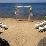 The beach setting for the ceremony