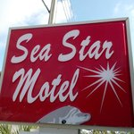 Sea Star Motel sign on Gulf Blvd