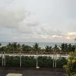 View of the ocean from the roof top deck