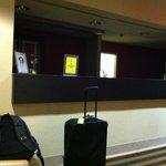 Deserted lobby.