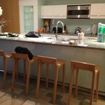 Kitchen island with stools, granite counter tops