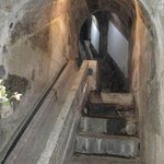 Stairs going up into the well