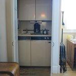 Anybody's Room kitchen closet, full size coffee maker