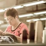 Our stitching team leader - Madam Fong