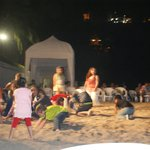 Entertainment on the beach