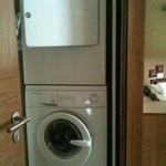 Washing machine & dryer in master bathroom