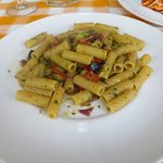 Rigatoni with vegetables