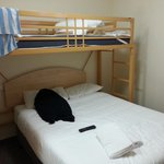 The bed, room 402